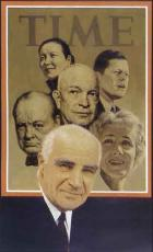 Portrait of Henry Luce and his friends by Sol Korby