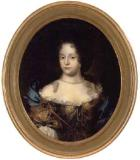 Portrait of noblelady wearing low cut dress by Jacob d'Agar