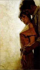 Man embracing woman from behind by Sol Korby