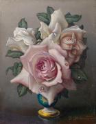 Bouquet with Blush Roses by Irene Klestova
