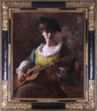 Viola with a guitar by Samuel Burtis Baker