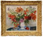 Still life with a jug of flowers by Lucien Adrion