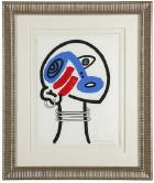 The Story Of Red And Blue XVII by Keith Haring