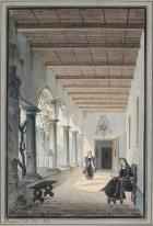 A cloister in convent by Pompeo Calvi